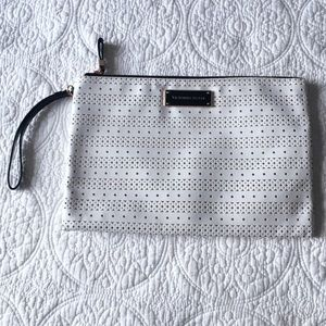 Victoria's Secret White Perforated Large Wristlet